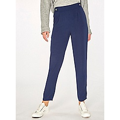 Dorothy Perkins - Navy horn button joggers