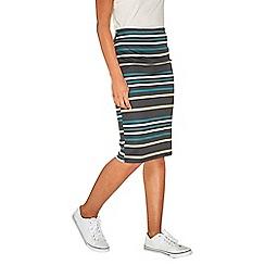 Dorothy Perkins - Black striped pencil skirt