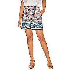 Dorothy Perkins - Multi colour border tile shorts