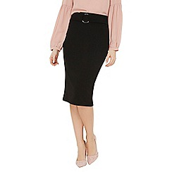 Dorothy Perkins - Black ring front pencil skirt