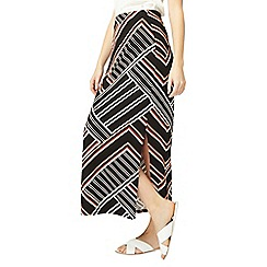 Dorothy Perkins - Multi coloured geometric striped maxi skirt