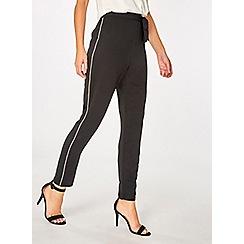 Dorothy Perkins - Black diamante trim tapered leg trousers