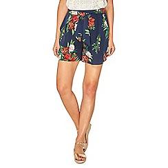 Dorothy Perkins - Blue floral print shorts