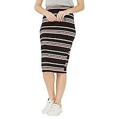 Dorothy Perkins - Black stripe tube pencil skirt