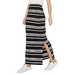 Dorothy Perkins - Black stripe tube maxi skirt