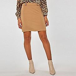 Dorothy Perkins - Stone popper mini skirt