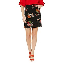 Dorothy Perkins - Black floral mini skirt