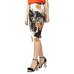 Dorothy Perkins - Black scarf print pencil skirt