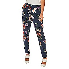 Dorothy Perkins - Navy tapered floral print joggers