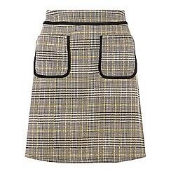 Dorothy Perkins - Ochre checked mini skirt