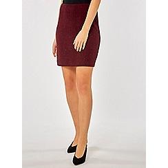 Dorothy Perkins - Wine textured glitter skirt