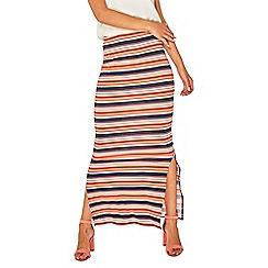 Dorothy Perkins - Multi coloured bright striped maxi skirt