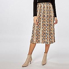 Dorothy Perkins - Multicoloured snake print skirt