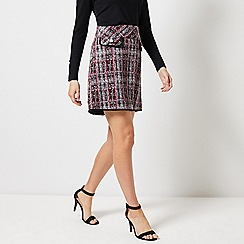 Dorothy Perkins - Black And Pink Check Print Mini Skirt
