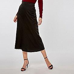 Dorothy Perkins - Black Jacquard Hem Midi Skirt