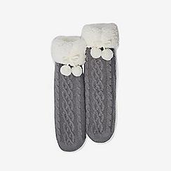 Dorothy Perkins - Grey chunky cable knit socks