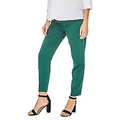 Dorothy Perkins - Maternity forest green ankle grazer trousers