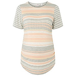 Dorothy Perkins - Maternity apricot striped t-shirt