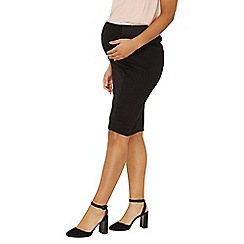 Dorothy Perkins - Maternity black ponte pencil skirt