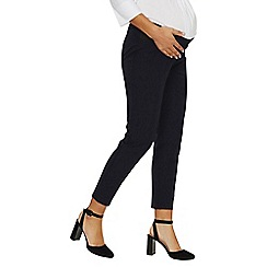 Dorothy Perkins - Maternity navy ankle grazer trousers