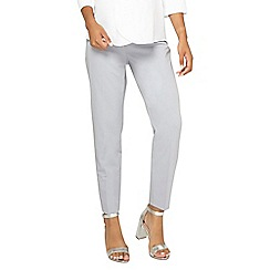 Dorothy Perkins - Maternity silver ankle grazer trousers