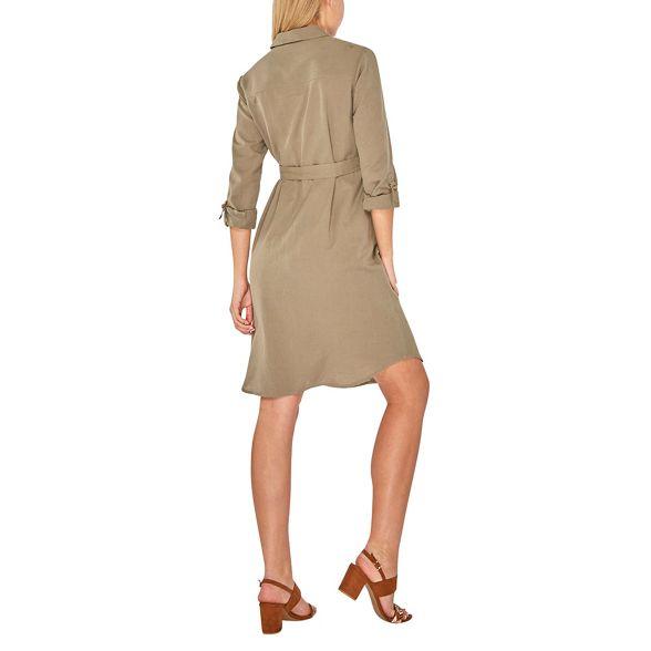 shirt khaki Maternity linen Dorothy dress Perkins qwI1qU