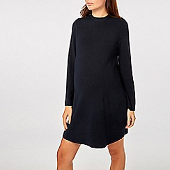 Dorothy Perkins - Maternity navy tie back shift dress