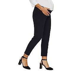Dorothy Perkins - Maternity under bump navy Naples ankle grazer trousers