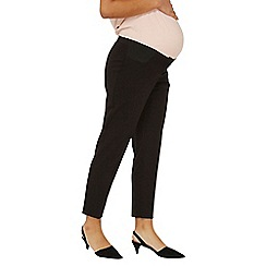 Dorothy Perkins - Maternity under bump black Naples ankle grazer trousers