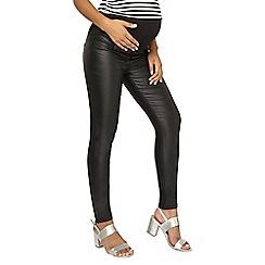 Dorothy Perkins - Maternity black pu coated jeans