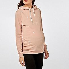 Dorothy Perkins - Maternity pink heart print hoodie
