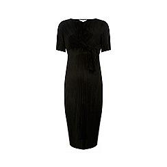 Dorothy Perkins - Black plisse bodycon dress