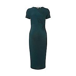 Dorothy Perkins - Maternity green tuck side dress