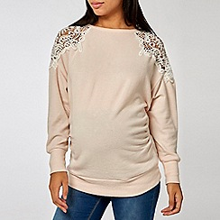 Dorothy Perkins - Maternity lace cold shoulder top