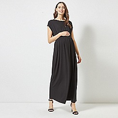 Dorothy Perkins - Maternity Black Shirred Maxi Dress