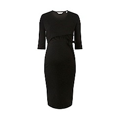 Dorothy Perkins - Maternity black ballet wrap dress
