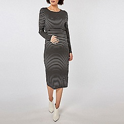 Dorothy Perkins - Maternity Striped Double Layer Nursing Bodycon Dress