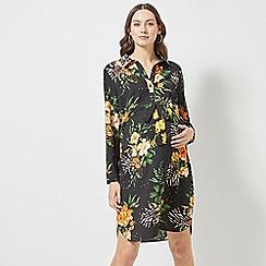 Dorothy Perkins - Maternity Multi Colour Zebra and Leaf Print Shirt Dress