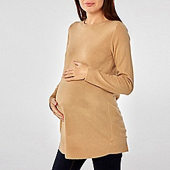 Dorothy Perkins - Maternity Camel Pebble Wrap Jumper
