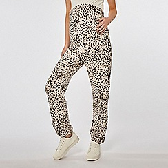 Dorothy Perkins - Maternity Camel Leopard Print Brushed Joggers
