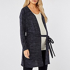 Dorothy Perkins - Maternity navy brushed nursing cardigan