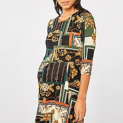 Dorothy Perkins - Maternity Scarf Print Midi Skater Dress