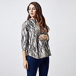 Dorothy Perkins - Maternity Snake Print Button Ity Shirt
