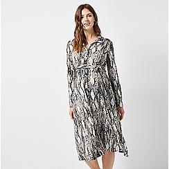 Dorothy Perkins - Maternity Multi Coloured Snake Print Midi Shirt Dress