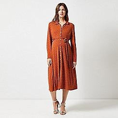 Dorothy Perkins - Maternity Ginger Interlock Twist Yarn Midi Shirt Dress