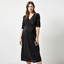 Dorothy Perkins - Black Plisse Wrap Dress