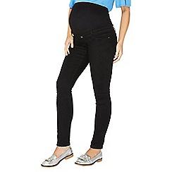 Dorothy Perkins - Maternity black overbump super skinny fit jeans