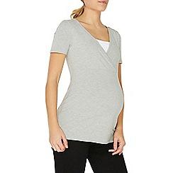 Dorothy Perkins - **maternity 2 pack black and grey nursing t-shirt