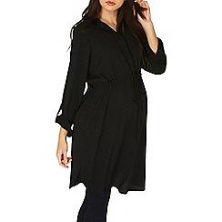 Dorothy Perkins - **Maternity black shirt dress