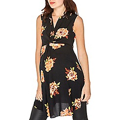 Dorothy Perkins - Maternity black floral tunic top